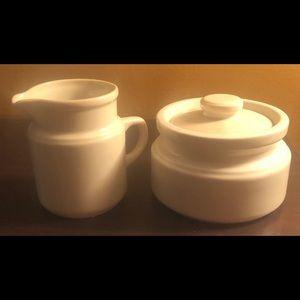 Porcelain - White - Cream & Sugar Set